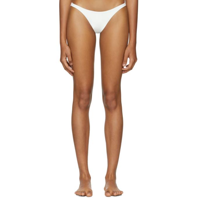 HER LINE Her Line White Tri Bikini Briefs in Milk White