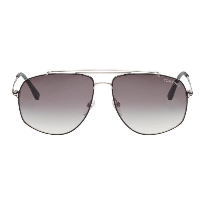 TOM FORD Silver Georges Avaiator Sunglasses