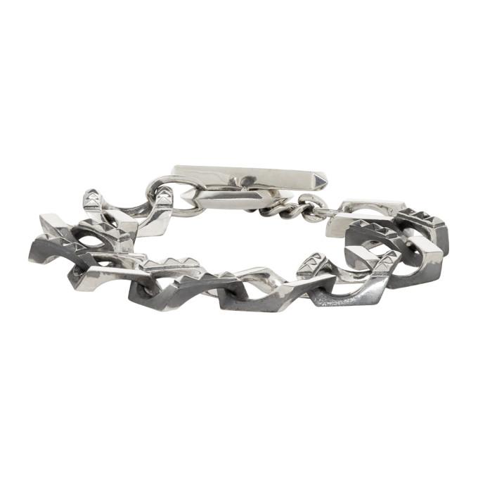 ALMOSTBLACK Almostblack Silver Big Chain Bracelet