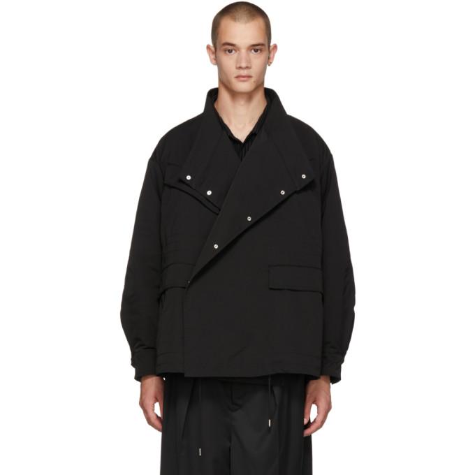 ALMOSTBLACK Almostblack Black Asymmetric Jacket