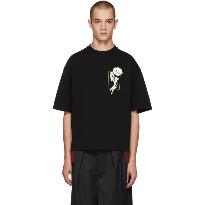 ALMOSTBLACK Almostblack Black Flower T-Shirt