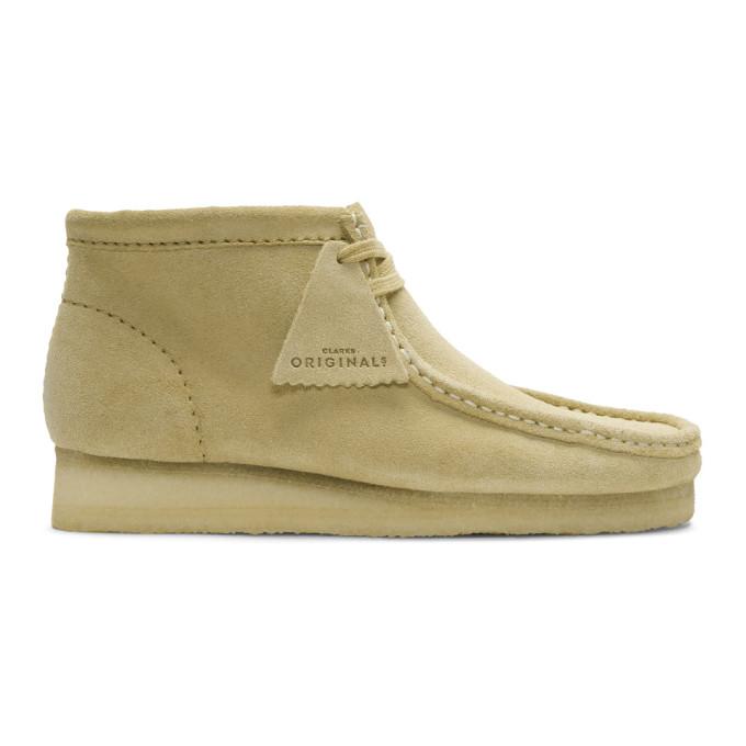 CLARKS ORIGINALS Clarks Originals Tan Suede Wallabee Boots in Maple Suede