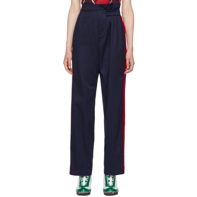 CHARLES JEFFREY LOVERBOY NAVY AND RED MILITARY TROUSERS