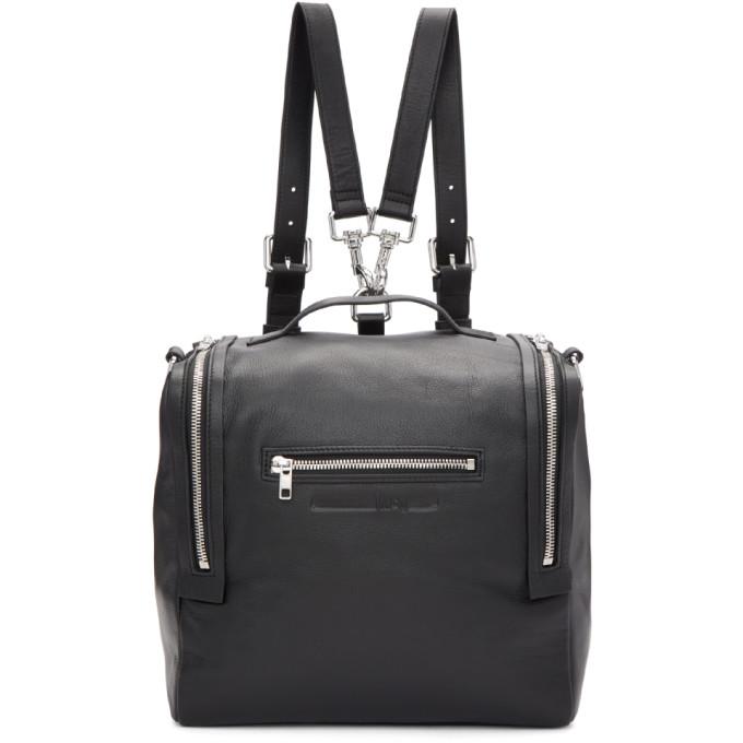 Mcq Alexander Mcqueen Black Convertible Backpack, 1000 - Blac