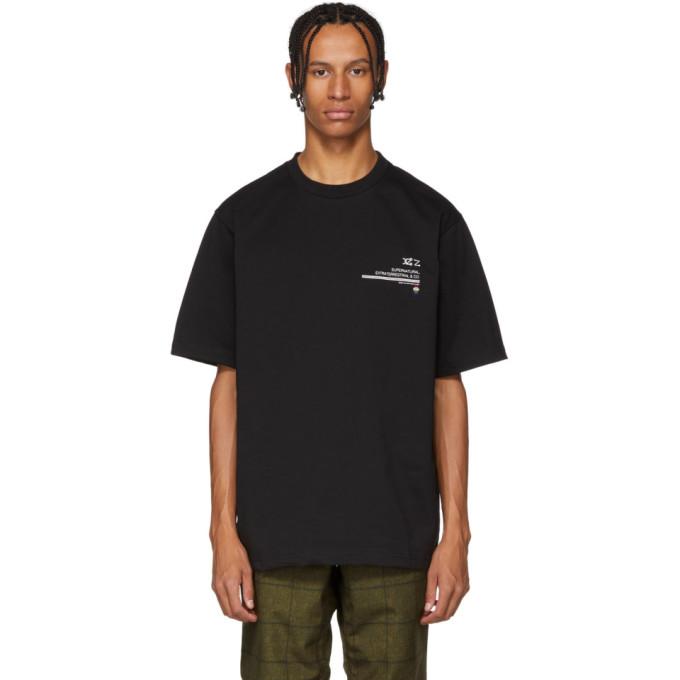 XANDER ZHOU Xander Zhou Black Jersey Graphic T-Shirt