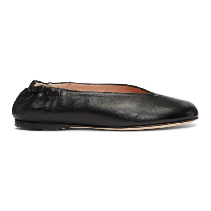 17f89e2b2383 Acne Studios Odry Leather Ballet Flats In Black