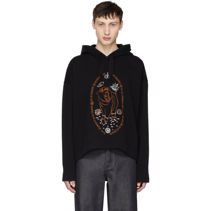 Black Orinak Bear Hoodie by Acne Studios