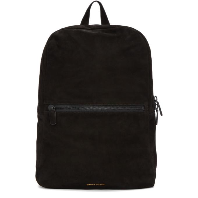 Suede Backpack - Black