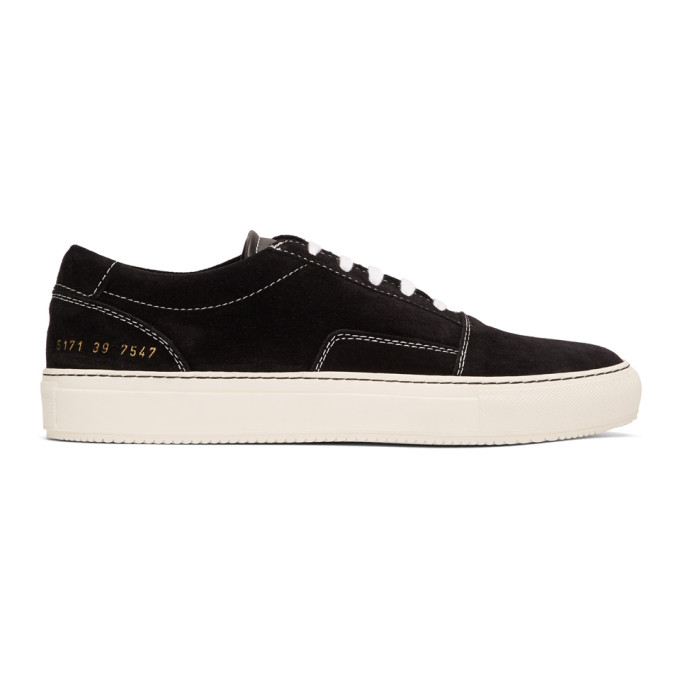 COMMON PROJECTS Skate Black Suede Trainers in 7547 Black