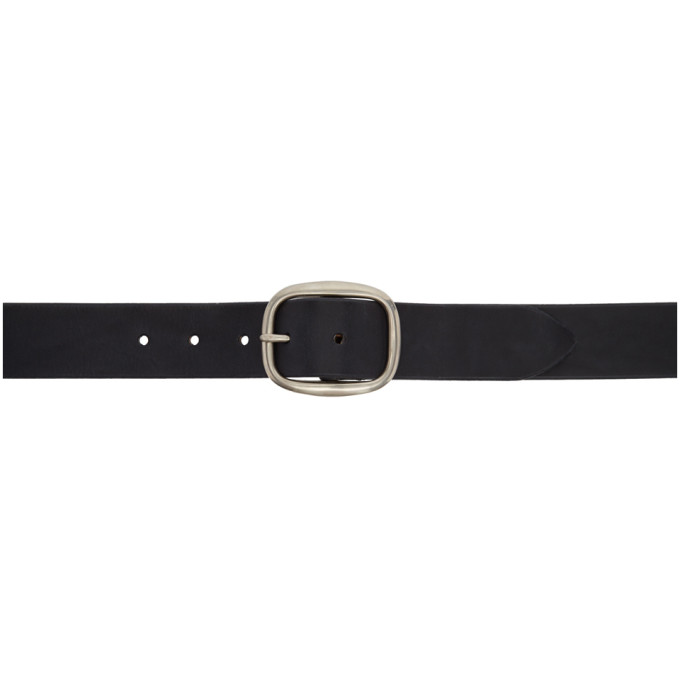 MAXIMUM HENRY BLACK AND SILVER OVAL VERY WIDE BELT
