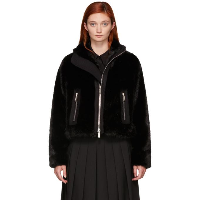 Dsquared2 Faux Fur Short Jacket - Black