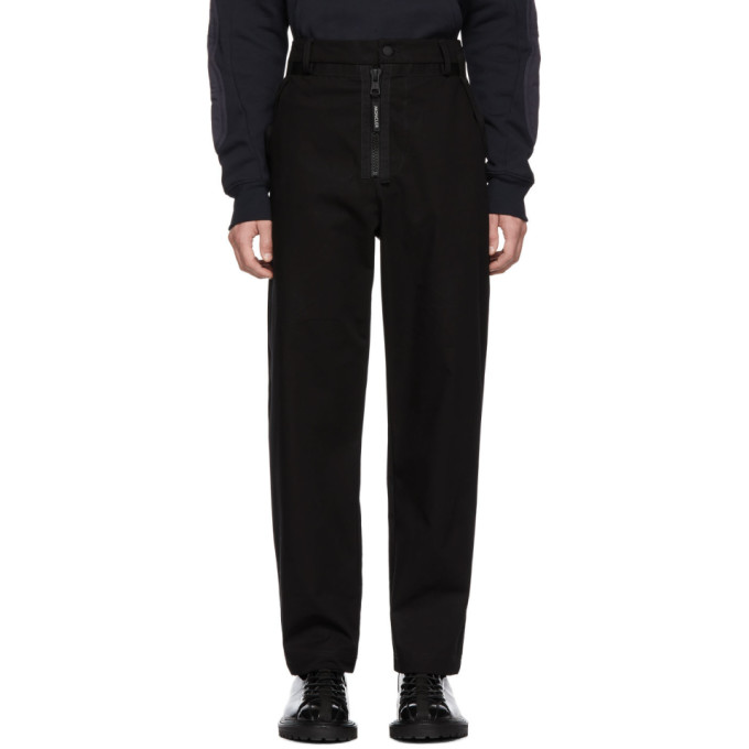 MONCLER GENIUS Moncler Genius Craig Green Logo Detail Straight Leg Cotton Trousers in 999Black