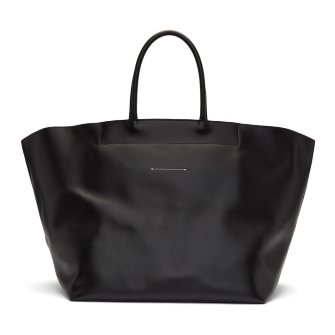 MM6 MAISON MARTIN MARGIELA BLACK WEEKENDER TOTE