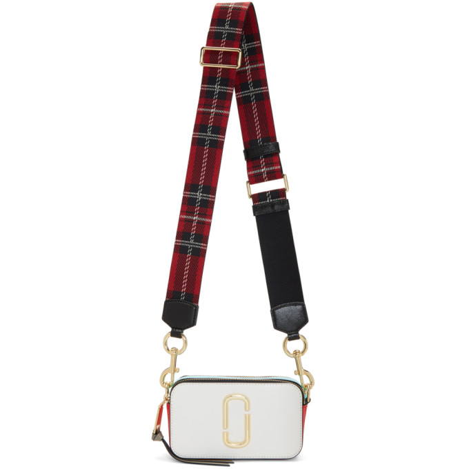 White & Red Snapshot Bag by Marc Jacobs