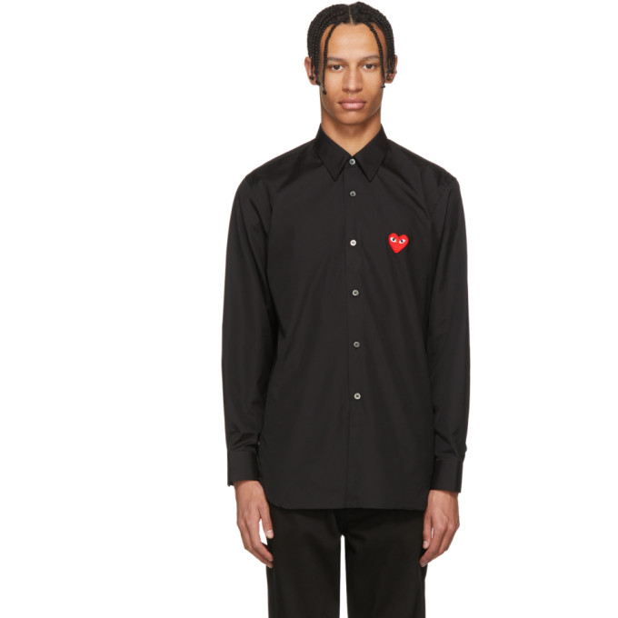 Black Heart Patch Shirt by Comme Des GarÇons Play