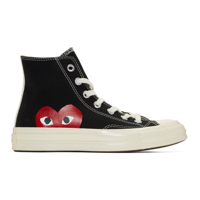 Black Converse Edition Chuck Taylor All Star '70 High Top Sneakers by Comme Des GarÇons Play