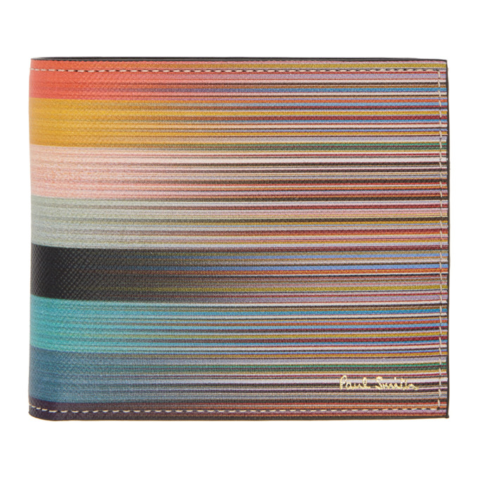 PAUL SMITH Dip Dye Artist Stripe Wallet, 96 Multi