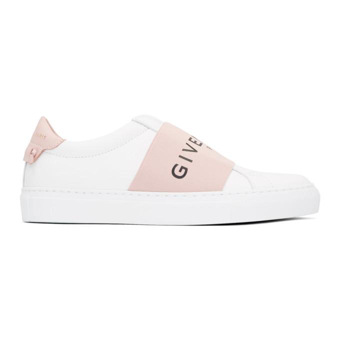Urban Street White And Pink Logo Sneakers, 681 Pink