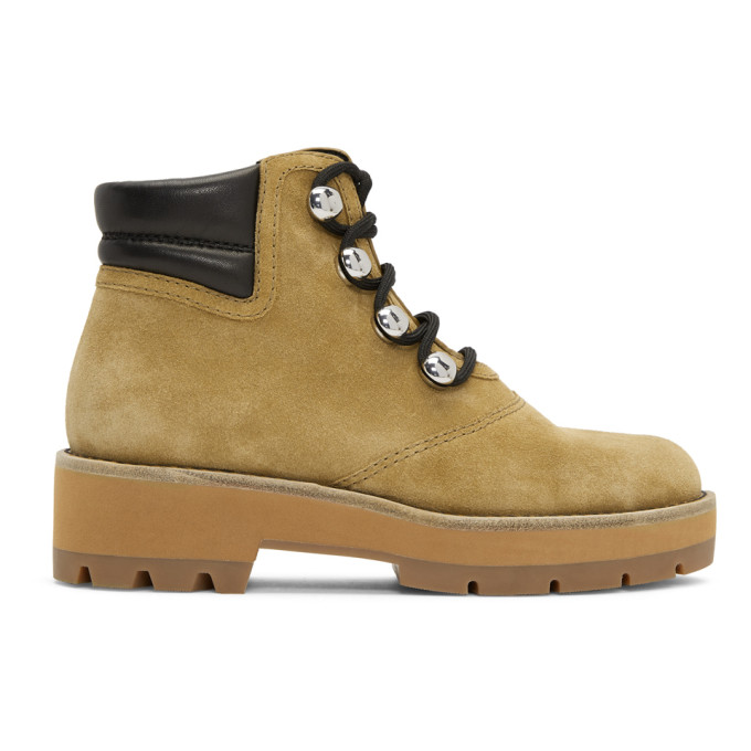 3.1 PHILLIP LIM BEIGE DYLAN HIKING BOOTS