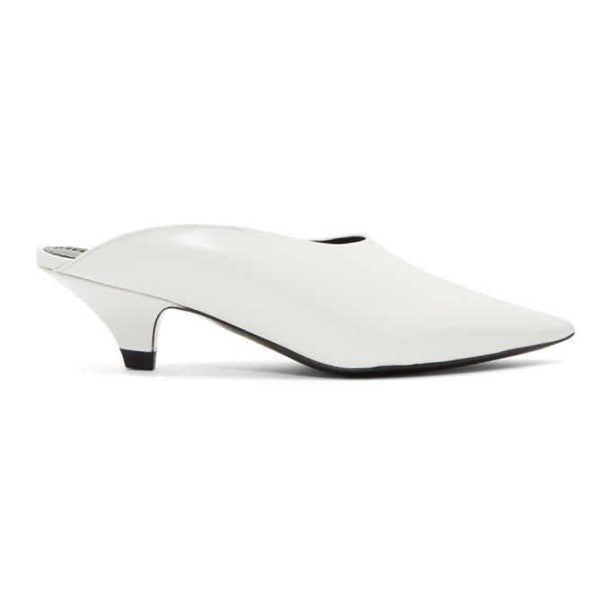 Proenza Schouler White Mule Kitten Heels