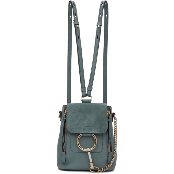 Blue Mini Faye Backpack by ChloÉ