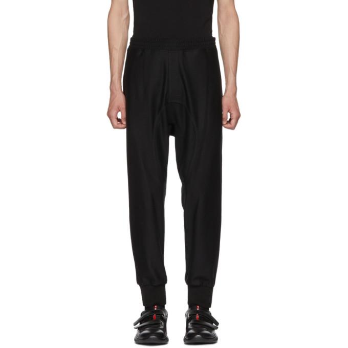 NEIL BARRETT Black Track Style Trousers