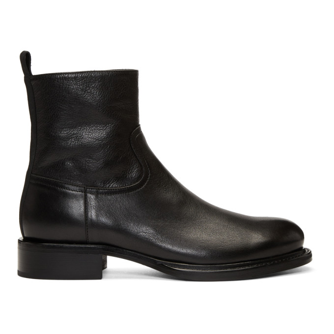 Black Leather Canyon Boots
