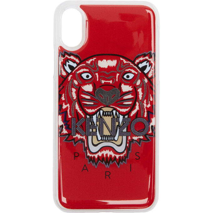 Tiger Iphone X Case, 21 Med Red