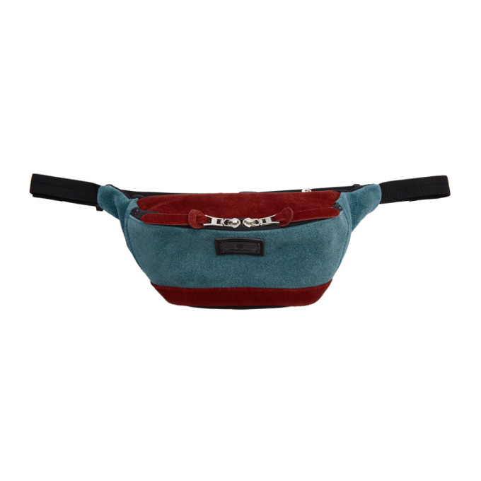 MASTER-PIECE CO Master-Piece Co Burgundy And Blue Revise Waterproof Waist Pouch in Turq.Red