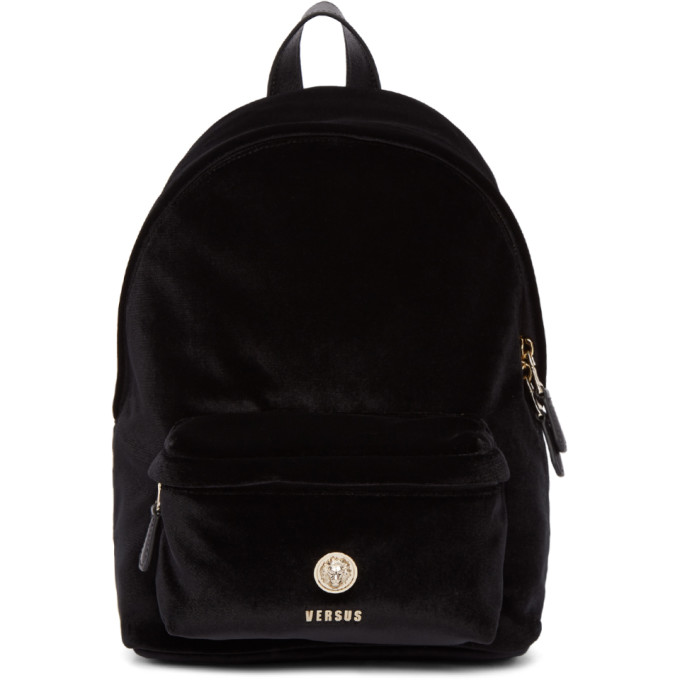 Versus Black Velvet Lion Backpack, F463H Black