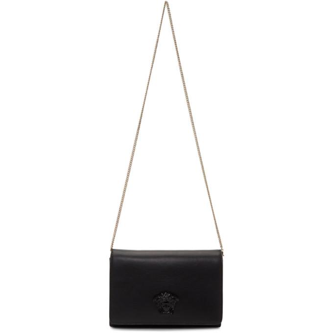 VERSACE BLACK TONAL MEDUSA CLUTCH BAG