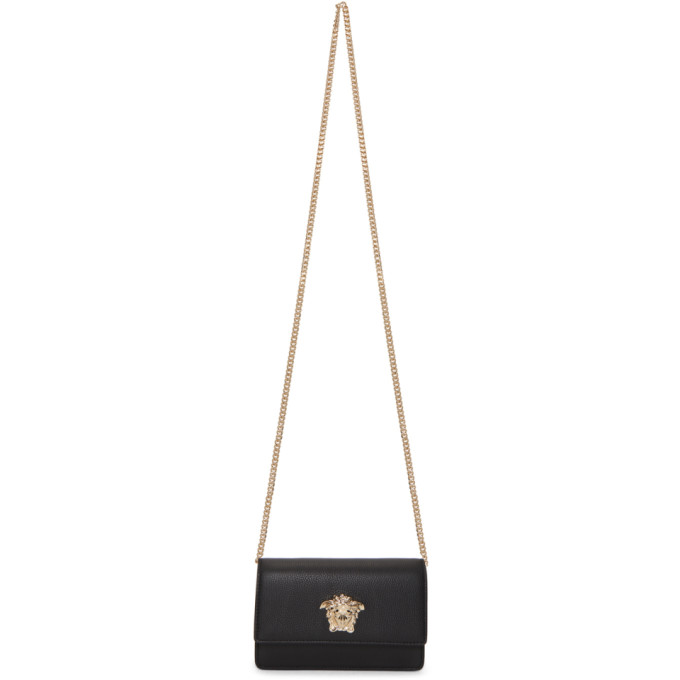 VERSACE BLACK SMALL PALAZZO CHAIN BAG