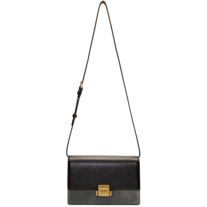 SAINT LAURENT Black Suede Bellechasse Folded Bag