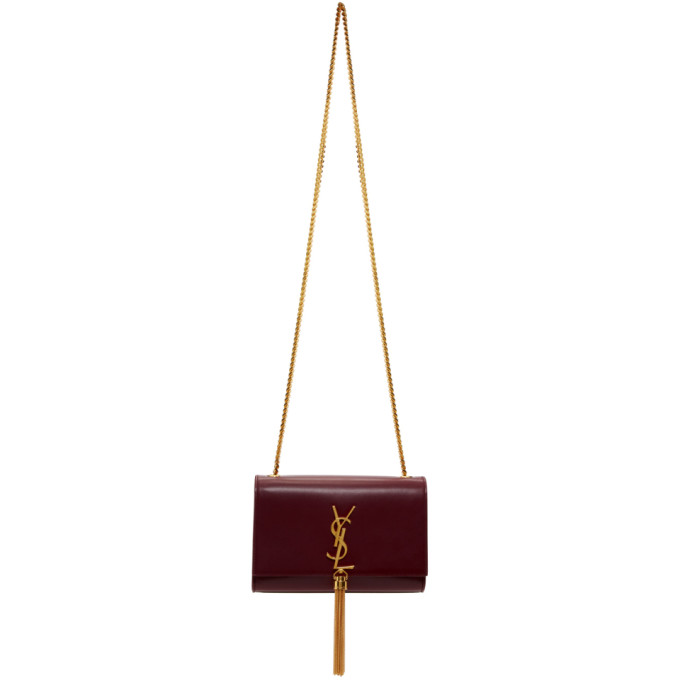 SMALL KATE CHAIN CROSSBODY BAG - RED
