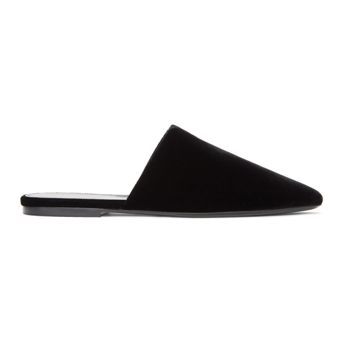Pointed Mules in Black