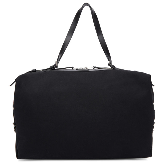 SAINT LAURENT Black Large Canvas ID Duffle Bag