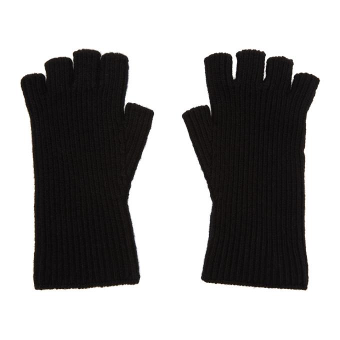 JULIUS Julius Fingerless Gloves - Black