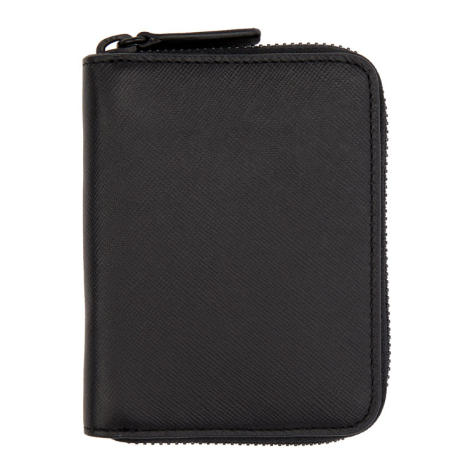 WOMAN BY COMMON PROJECTS BLACK SAFFIANO ZIP WALLET