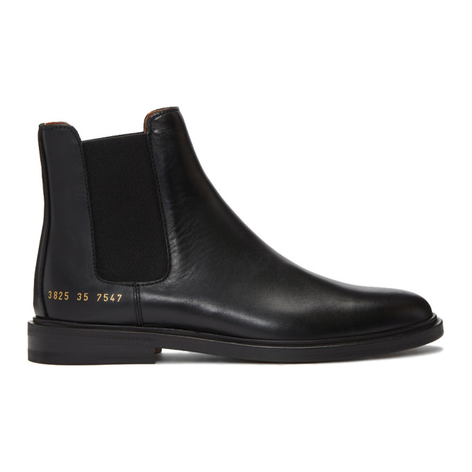 Common Projects WOMAN BY COMMON PROJECTS BLACK CHELSEA BOOTS
