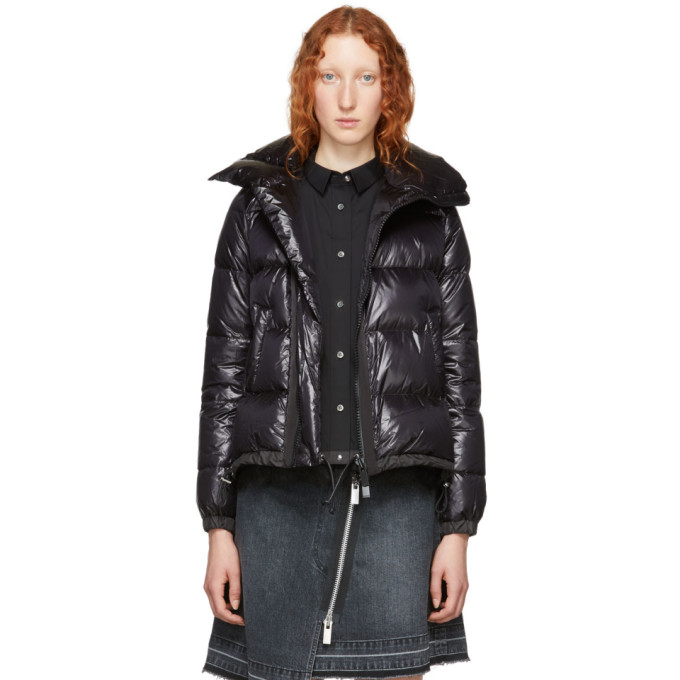 Short Puffer Jacket  in Black
