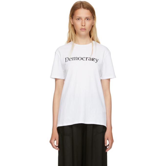 6397 WHITE DEMOCRACY T-SHIRT