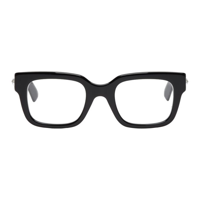 GUCCI Black Bold Rectangular Glasses