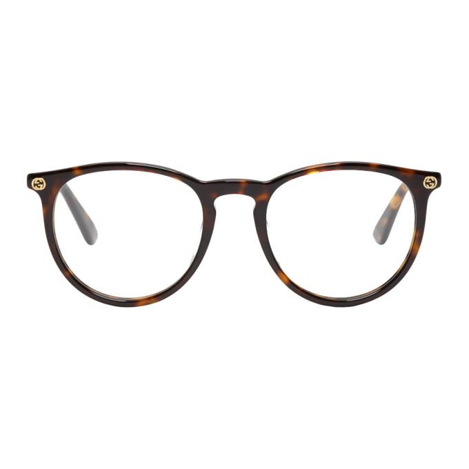 GUCCI Tortoiseshell Round Pantos Glasses
