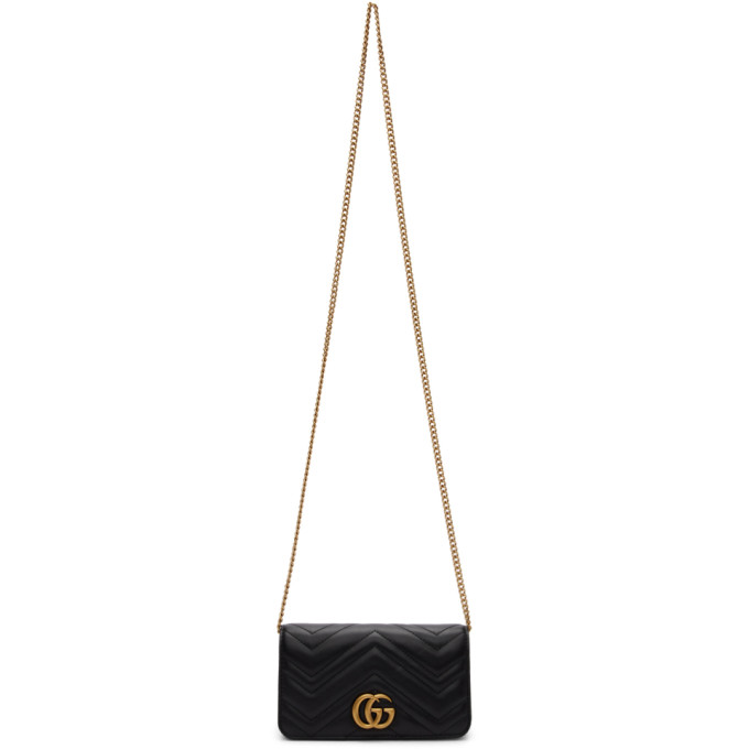 GUCCI BLACK GG MARMONT 2.0 BAG
