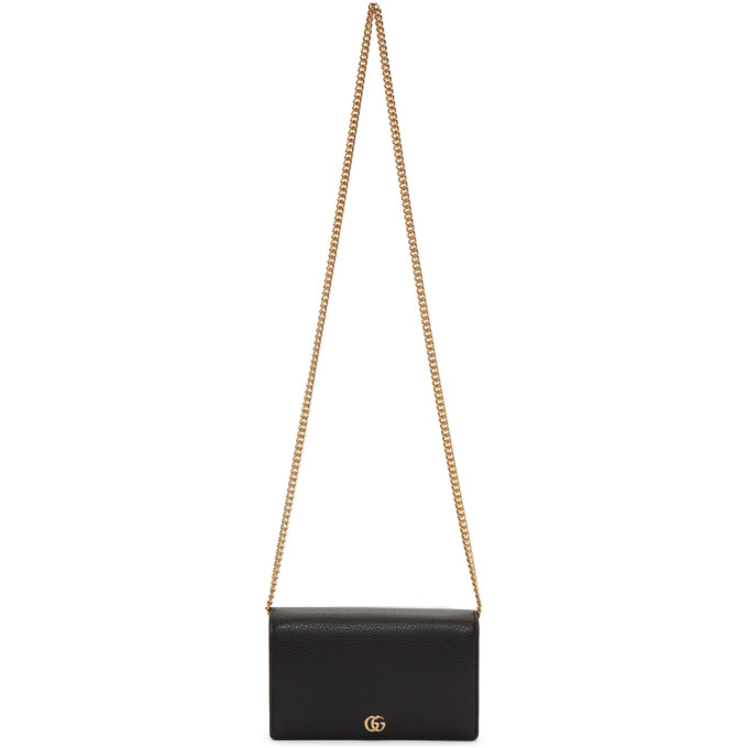 GUCCI BLACK SMALL MARMONT SHOULDER BAG