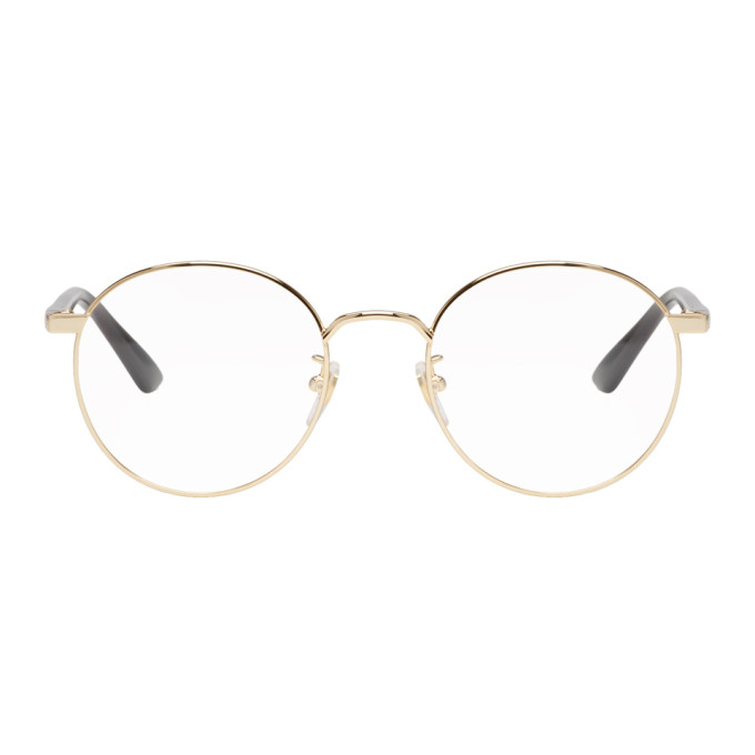 7b31401927 Gucci Gold Round Glasses In 001 Shiny G