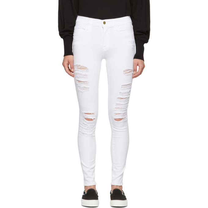 White 'Le Color' Ripped Jeans from SSENSE