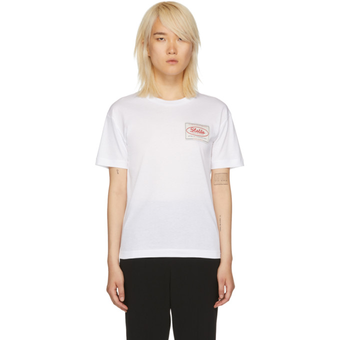STELLA MCCARTNEY White 'Stella Tag' T-Shirt