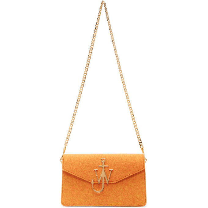 J.W.ANDERSON Orange Felted Logo Bag
