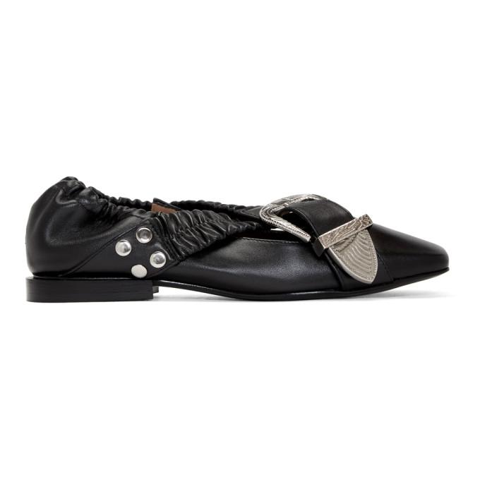 TOGA Toga Pulla Women'S Aj928Black Black Leather Flats